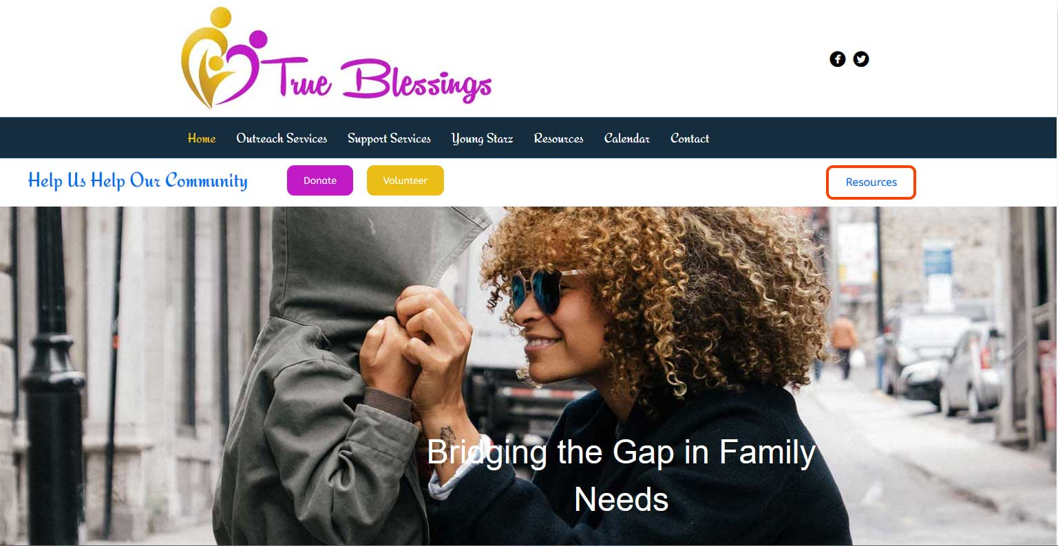 true blessings non profit website