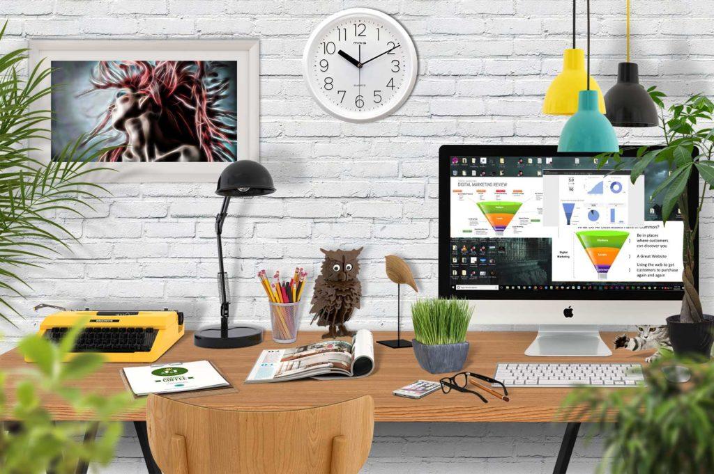 Desktop-scene